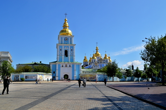 St. Michael's Golden Domed Monastery and Mykhailivska Square