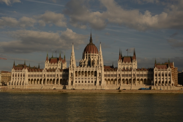 Parliment Building in Budapest, Hungary from the south side of the river.