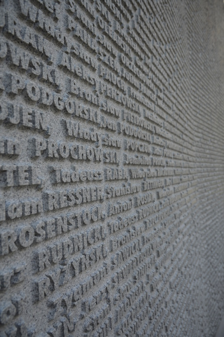 Polish Victims Wall of Names