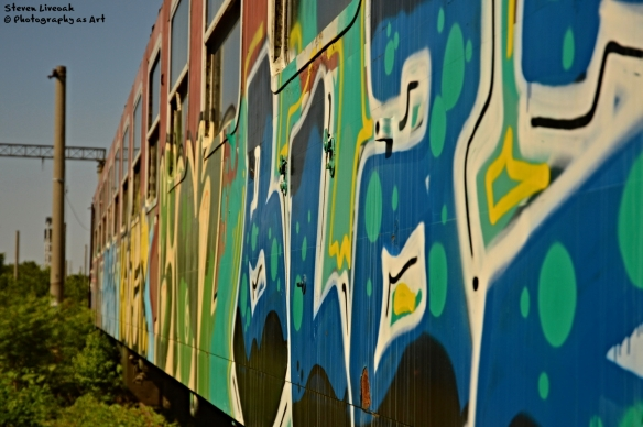Graffiti on Old Train