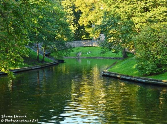 Stone Bridge Over Canal - Riga